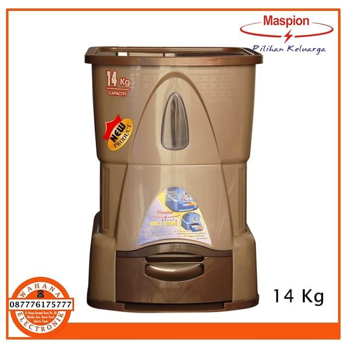 Maspion Rice Box MRD 1400AP MRD-1400 AP 14Kg Tempat Beras 14 Kg