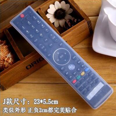 Sarung Silikon Remot Kontrol Unive al TV AC 23 x 5.5 cm - Transparent