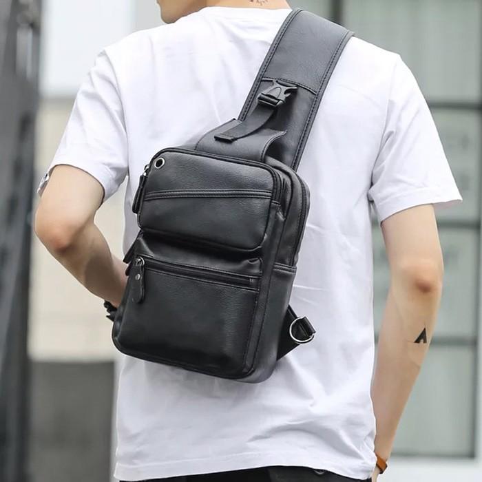 Tas Selempang Kulit Pria Sling Bag Import Asli Original Termurah New b4153f20f3