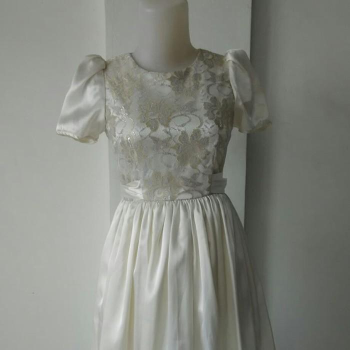 Jual Dress Pesta Putih Baju Preloved Oke Tokopedia