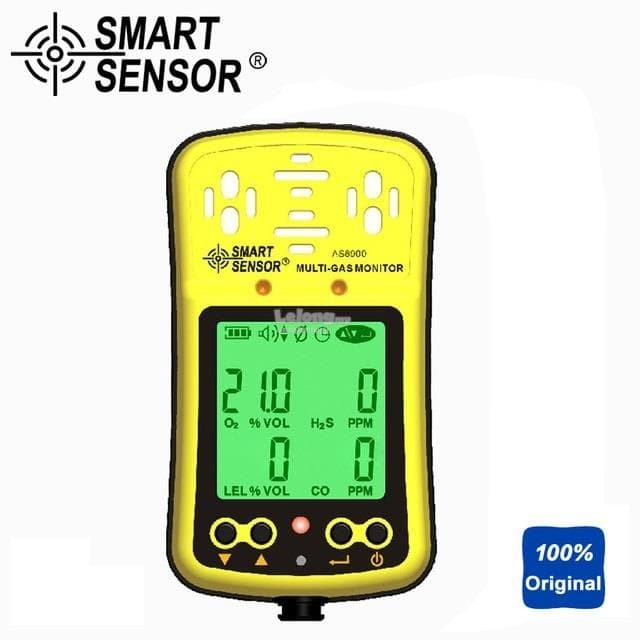 harga 4 in 1 gas monitor smart sensor as8900 o2 co h2s lel detector tester Tokopedia.com