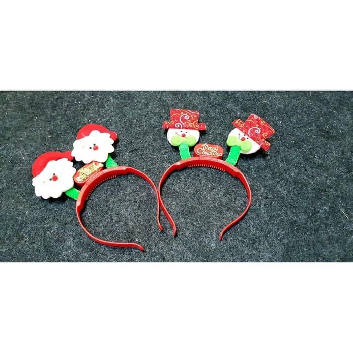 Hiasan natal/ pohon natal/ baju natal bando santa snowman murah