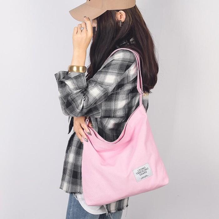 Jual TS62 Korea Nami Canvas Shoulder Sling Bag / Tas ...