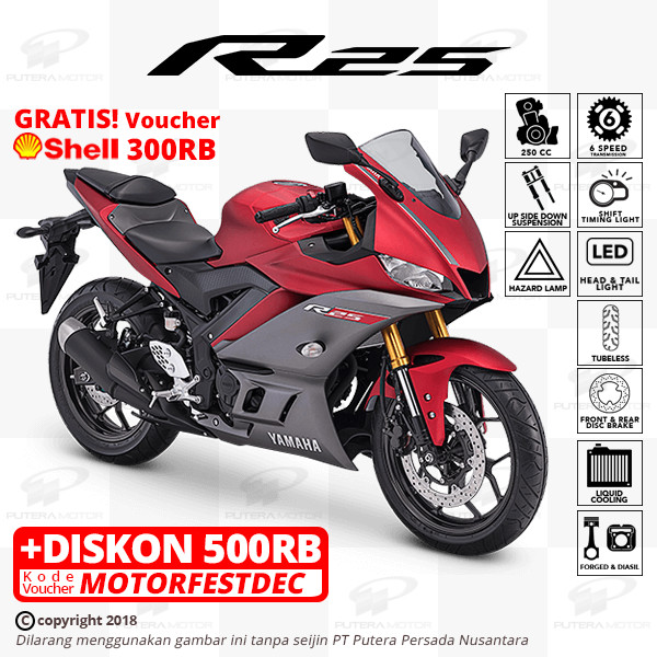 harga Yamaha r25 [new model] - otr bogor - merah Tokopedia.com