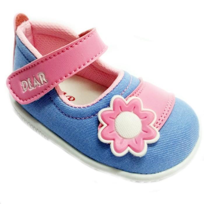 Jual Sepatu Bayi Perempuan Baby Dear Jeans Bunga 6 9 Bulan Navy
