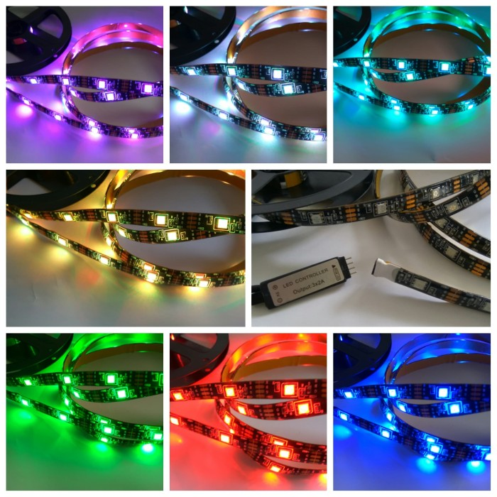 LED Strip USB Arduino RGB SMD 5050 Smart WS 2812 Spesial Warna 3 Meter