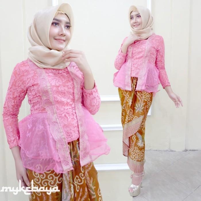 Jual Kebaya Kutubaru Kebaya Broklat Modern Kebaya Wisuda Hijab Kuning Atasan Kota Surakarta Solokebaya Net Tokopedia