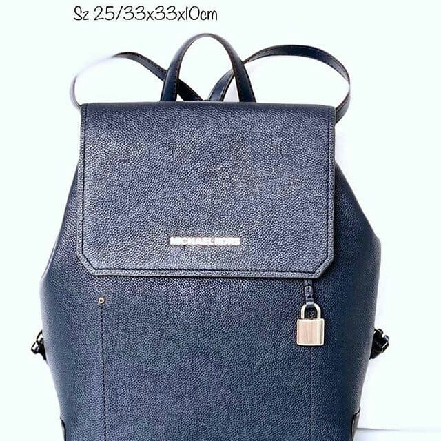 cc5a55195832 Jual Tas Michael Kors original - Mk hayes medium backpack navy in ...