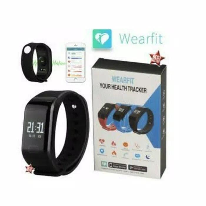 Jual Jam tangan kesehatan / Smartwatch Wearfit F1 - Smart Bracelet Heart Ra  - Jakarta Barat - Happysmileshop8   Tokopedia