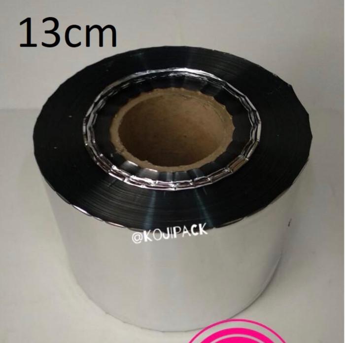 harga Top seal metalize tutup cup gelas plastik silver lebar 13cm Tokopedia.com