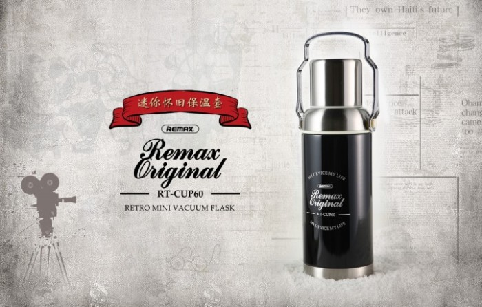 Remax Rt - Cup60 - Thermos Retro Mini Vacuum Flask Stainless Steel 600ml - Blanja.com