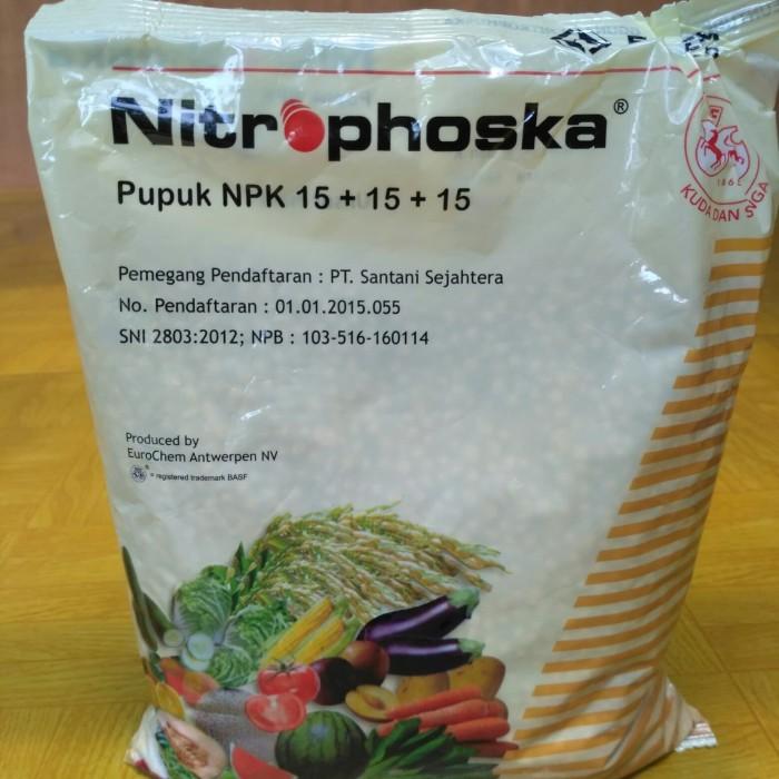 Jual pupuk tanaman pupuk NPK basf 15+15+15 import nitrophoska kemasan 1kg -  Kota Tangerang - tani mandiri12 | Tokopedia