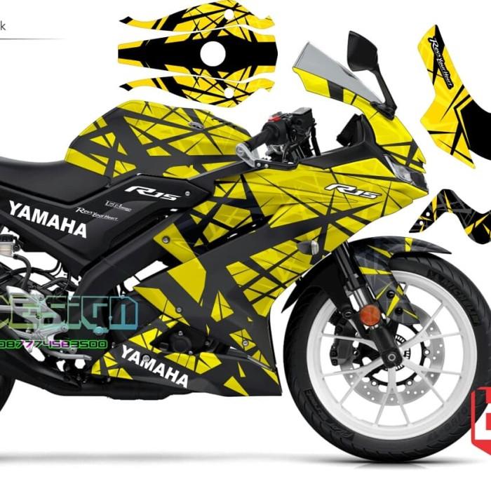 Jual Decal sticker Yamaha R15 V3 yellow tribal fullbody - Kota Malang - E R  Design decal sticker | Tokopedia