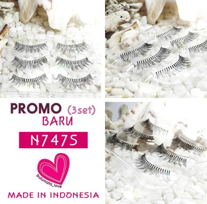 Jual Promo Item Baru Bulu Mata Love Eyelashes N747s 3 Set