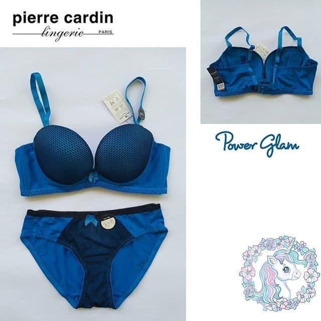 b4b3490e68 Jual Bra Set Pierre Cardin Power Glam Blue 34b Push Up - Waroeng Bra ...