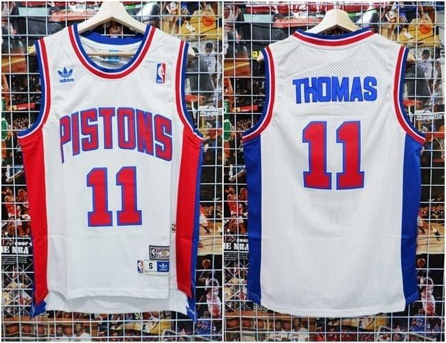 new york 1f637 35687 Jual Jersey NBA Classic HWC Detroit Pistons #11 Isiah Thomas Putih - Kota  Batam - Top Sneaker Store | Tokopedia