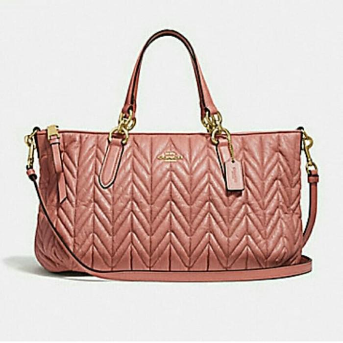 Jual tas wanita coach original - coach F31460 ally quilted satchel ... 66d53c2419