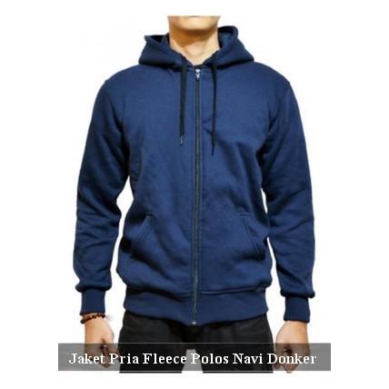 jaket cowo zipper jumbo pria size M L XL hoodie polos fleece tebal