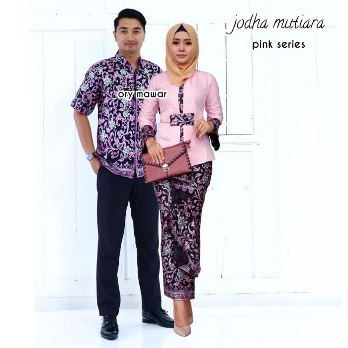 Terbaru Batik Couple Kebaya Sarimbit Muslim Modern Termurah Jodha - Putih 8f4429a4b3