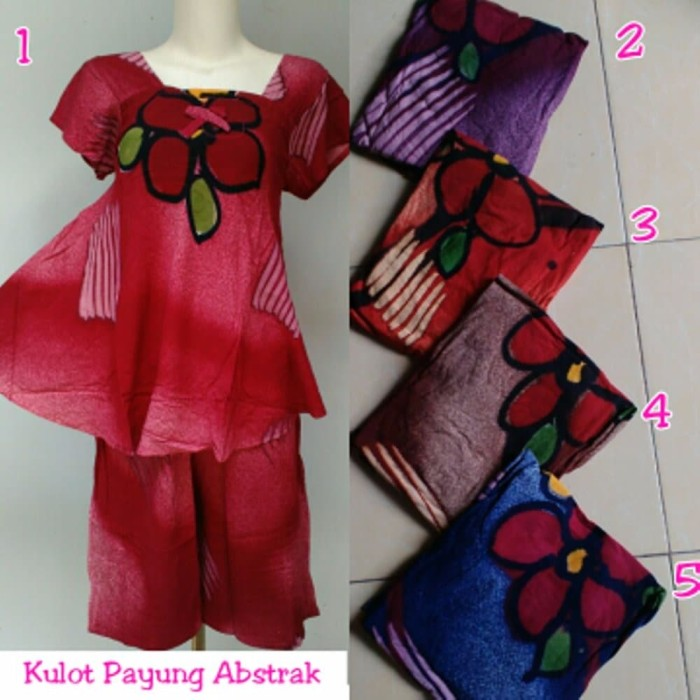 Jual Setelan Kulot Payung Batik Pekalongan Baju Tidur Wanita
