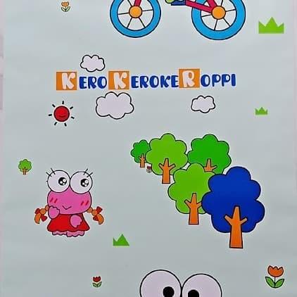 Jual Wallpaper Dinding Kamar Anak Kartun Keroppi Hijau Termurah Lucu