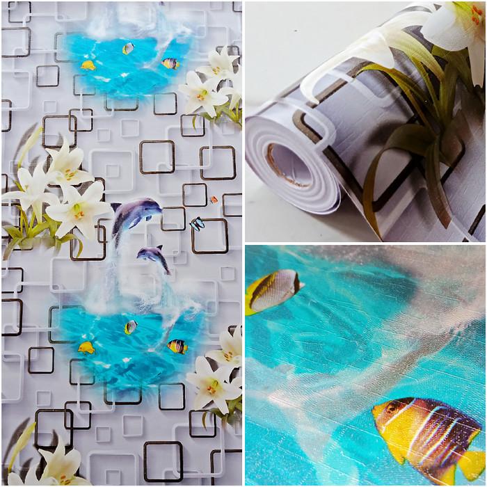 Jual Wallpaper Dinding Murah Kotak 3d Kolam Ikan Bagus Elegan Terlaris Jakarta Utara Beautywallpaper Tokopedia