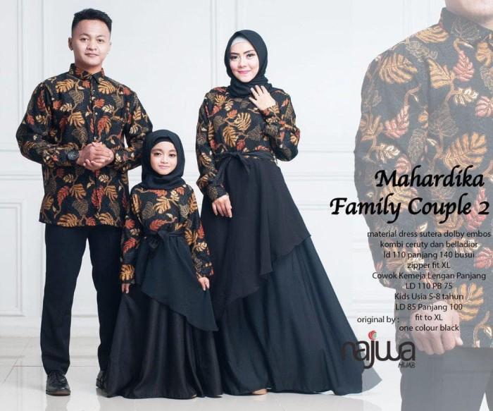 Jual Berkualitas Baju Gamis Batik Couple Keluarga Sarimbit Mahardika ... 4368b6dfd2