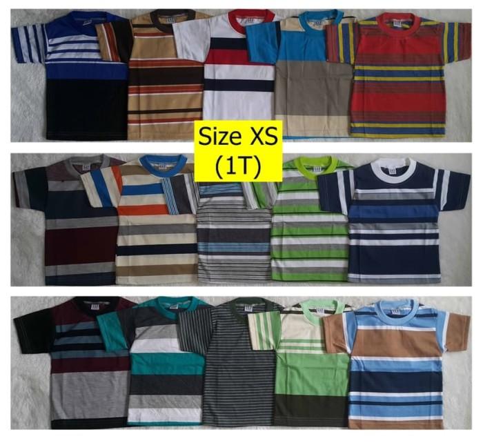 Foto Produk Grosir Kaos Oblong Salur Anak ukuran XS dari Garaya Fashion