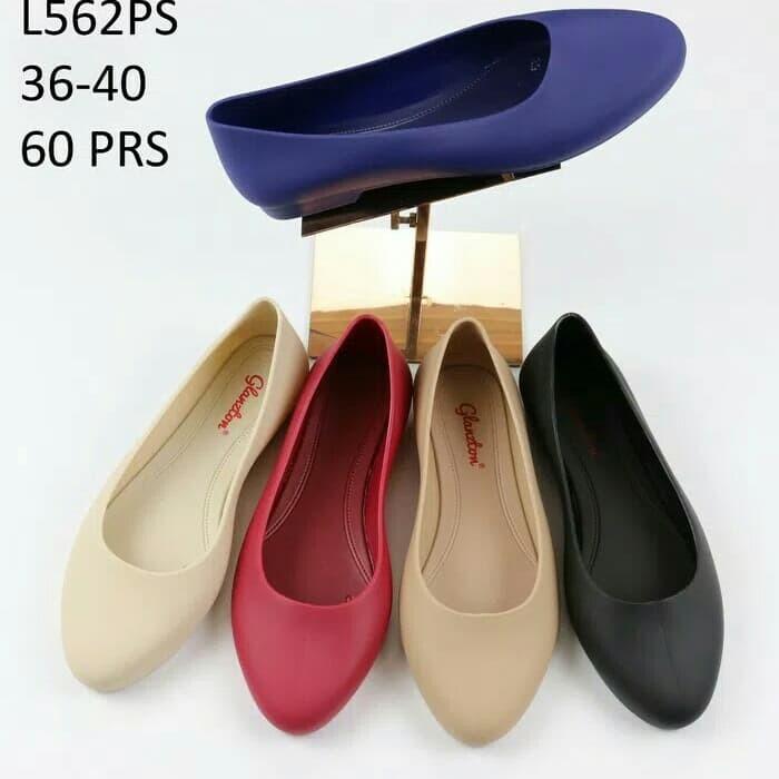 138ab17e9 Jual Jelly shoes flat shoes sepatu jelly hitam sepatu kerja flat import -  Navy, 36 - - baksos | Tokopedia