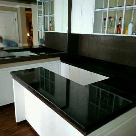 Jual Granit Hitam Nero Absoluto Black Untuk Meja Dapur Kitchenset