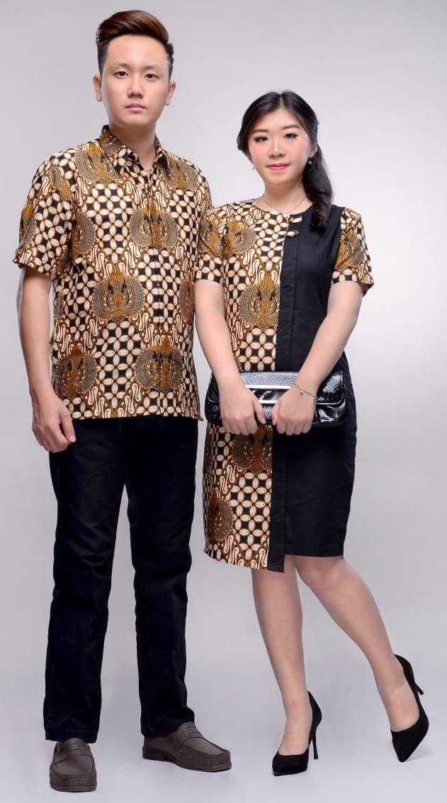 Jual Batik Couple   Batik Sarimbit Dress Batik Nana HQ - anitaolshop ... 63a5f2bf97