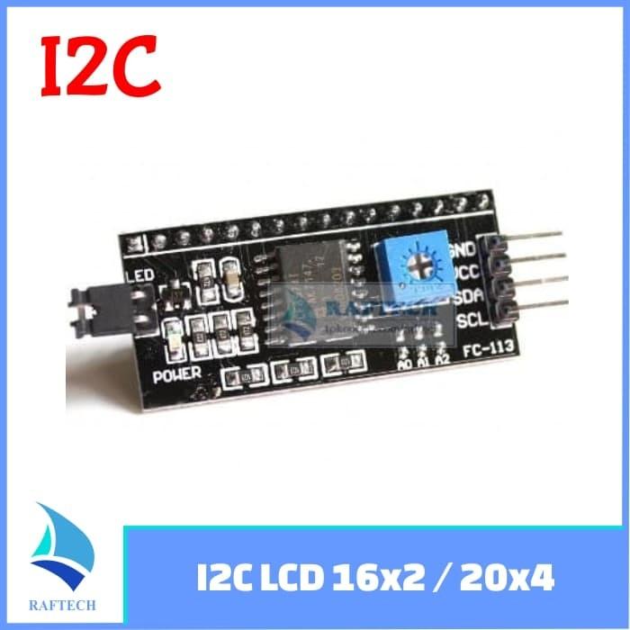 Foto Produk IIC I2C LCD 1602 16x2 2004 20x4 dari RAFTECH