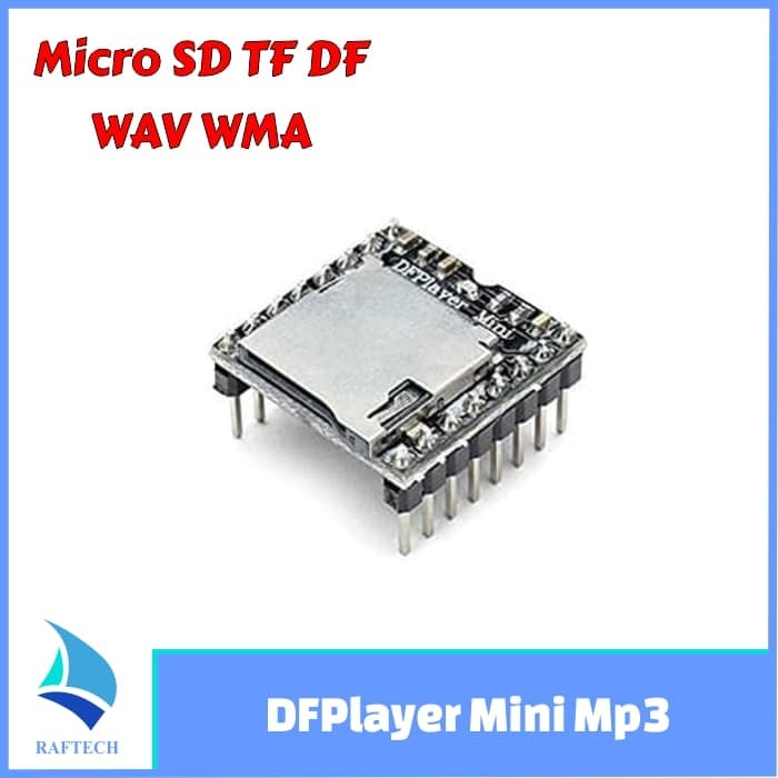 Foto Produk DFPlayer mini MP3 Player Arduino Audio Speaker Micro SD TF DF WAV WMA dari RAFTECH