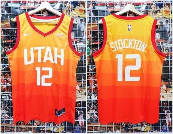 san francisco 107a7 c5809 Jual Jersey Swingman NBA Utah Jazz Orange City Edition #12 John Stockton -  Kota Batam - AJ Basketball Store | Tokopedia
