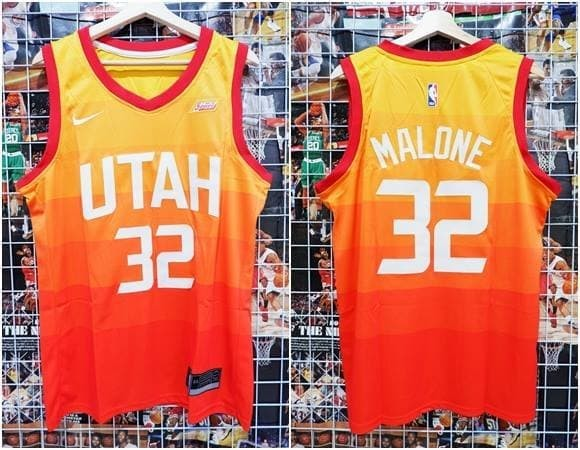reputable site 56f14 97e43 Jual Jersey Swingman NBA Utah Jazz Orange City Edition #32 Karl Malone -  Kota Batam - AJ Basketball Store | Tokopedia