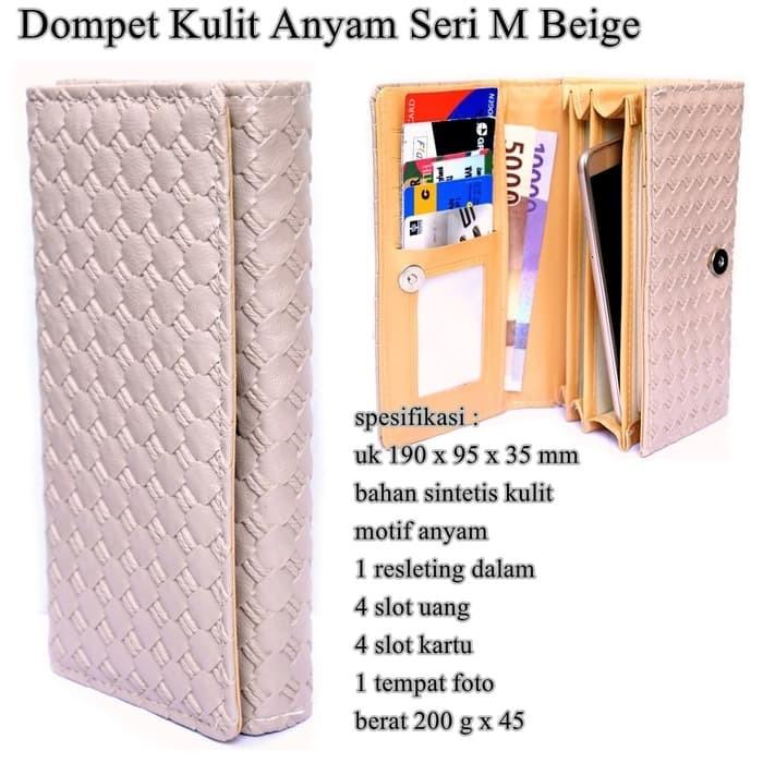 Jual Berkualitas Dompet Murah Kulit Anyam Seri M beige - Fintedaers ... 4b10ffc748