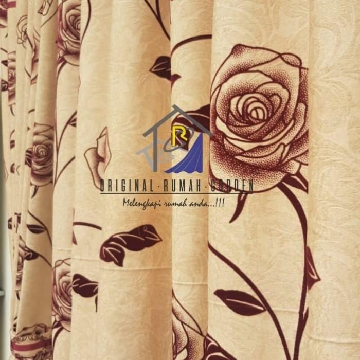 F Life Gorden Pintu Jendela Transparan Motif Floral Shopee Indonesia Source · Gorden Blackout Printing Mawar Velvet