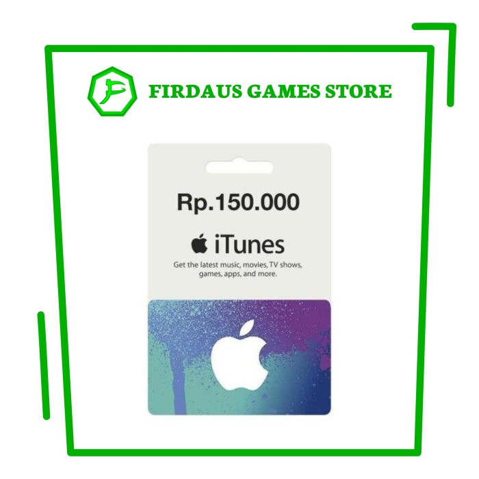 TERMURAH  iTunes Gift Card Indonesia IDR 1 Juta   1000K   1.000.000 d5773a1938