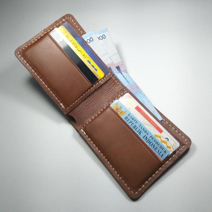dompet pria kulit sapi asli model bifold warna coklat model lipat dua 7ab6a90b5e