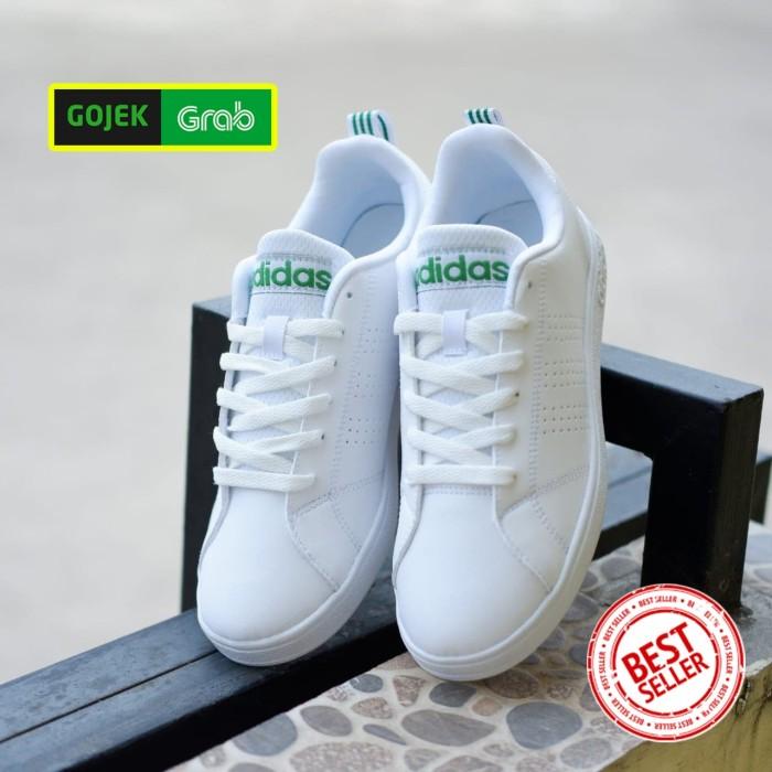 e50e0df02fc3 Sepatu ORIGINAL Adidas Neo Advantage white list green pria cowok - Putih
