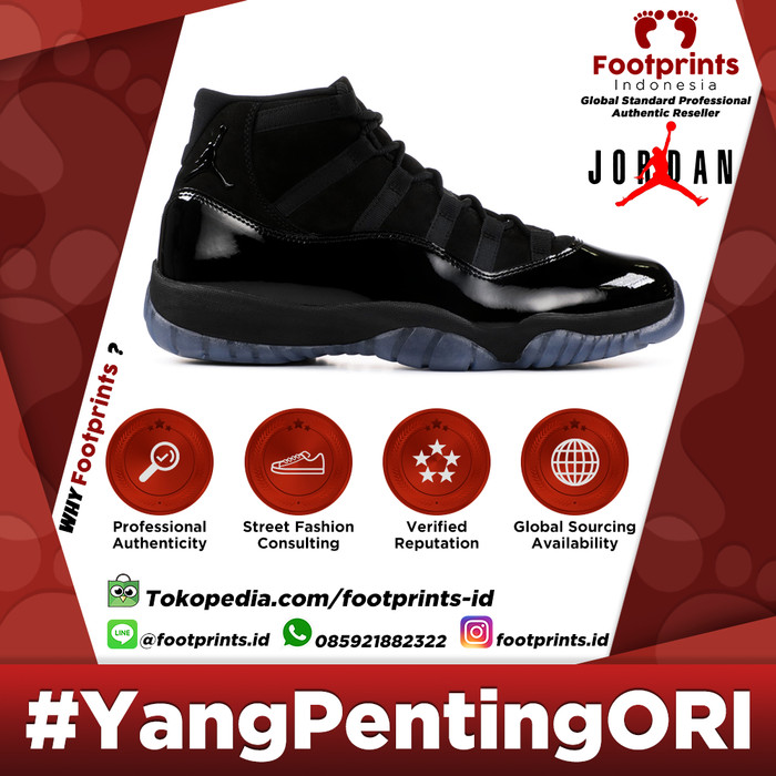8cbdeeb2f42 Jual Nike Air Jordan 11 Cap and Gown Prom Night Black Original ...