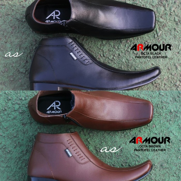 Foto Produk Sepatu Pantofel High Formal Kulit asli Armour Pria Kerja Lapangan Baru - Hitam, 39 dari TOKO KICKERS 4