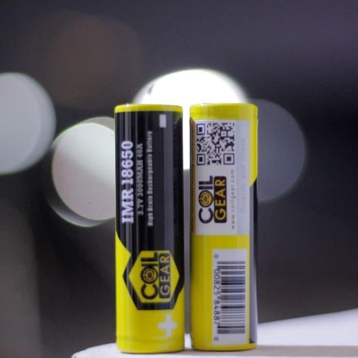 Foto Produk Authentic CoilGear Baterai Battery Batre 18650 3000MAH 40A dari BRWX Vapor