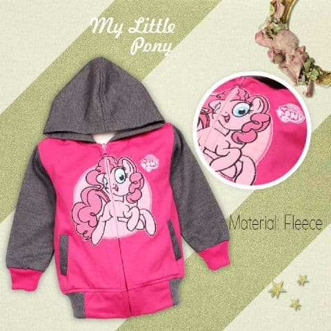 cc3062d8a Jual Jaket Anak Perempuan Karakter Little Pony Run Hoodie Zipper ...