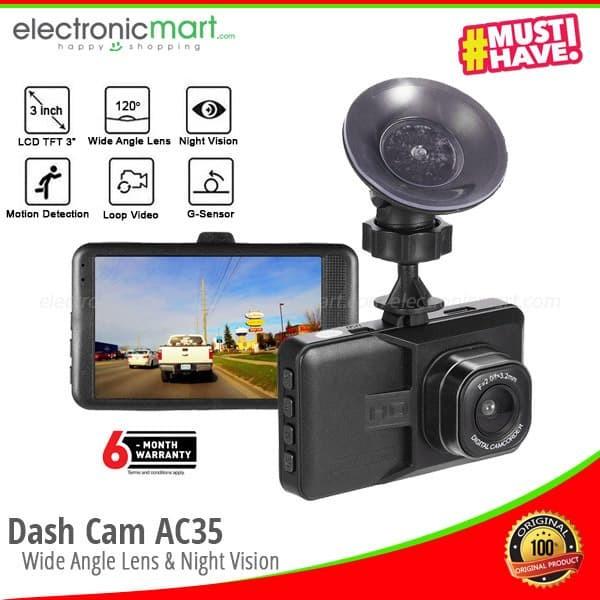 harga Dash cam ac35 car dash cam kamera mobil blackbox dvr 720p 720 Tokopedia.com