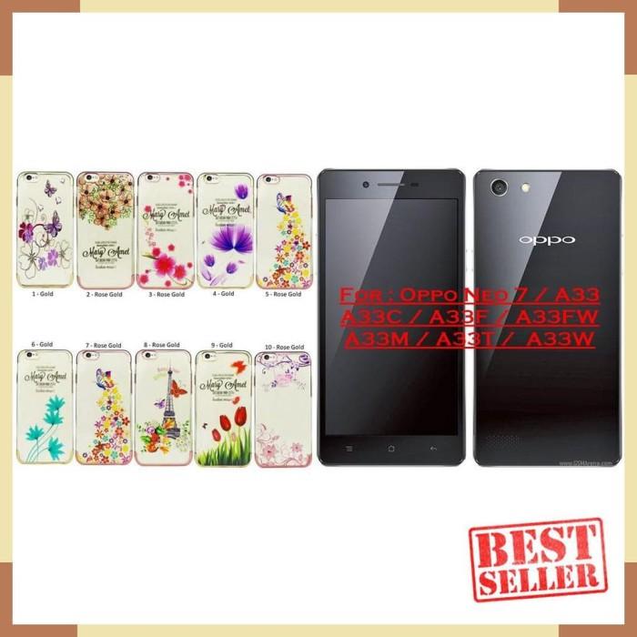 NEW / SFLC - Oppo A33 / Neo 7 - Softcase Flowers List Chrome