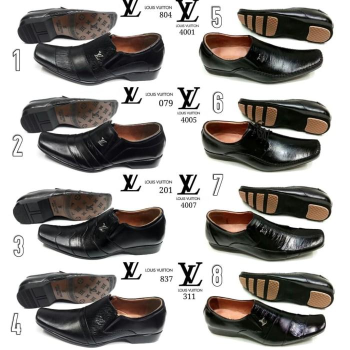 Jual Sepatu Pria Kulit Pantofel Louis Vuitton LV Kerja Formal Import ... 0b945e51ce