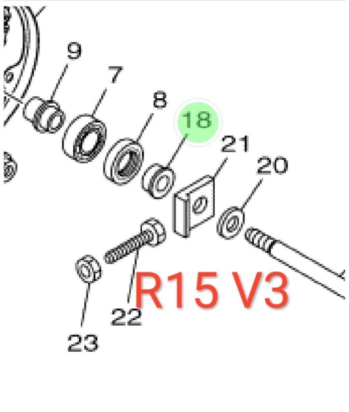 Jual Collar Bosh Bos Roda Belakang Kiri Yamaha Yzf R15