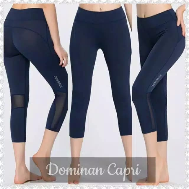 Jual Legging Sport Celana Senam 3 4 Gym Yoga Fitness Olahraga Wanita Hitam Jakarta Barat Kendas S Shop Tokopedia