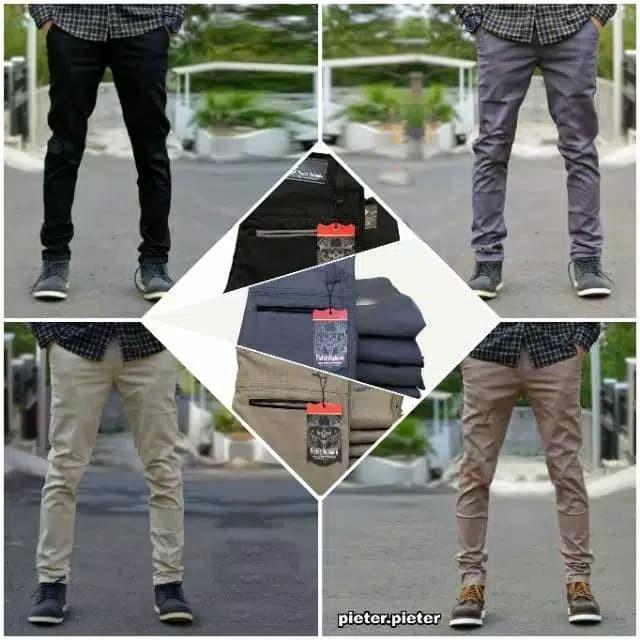 harga Celana panjang chino slimfit celana kain pria celana laki real pict Tokopedia.com